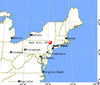 Rock Hill, New York map