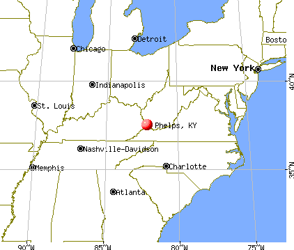 Phelps, Kentucky map
