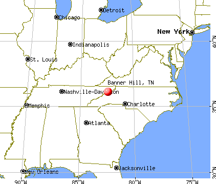 Banner Hill, Tennessee map