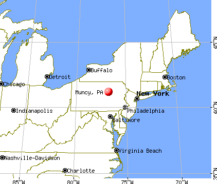 Muncy, Pennsylvania map