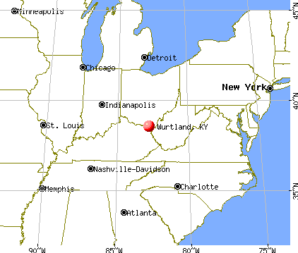 Wurtland, Kentucky map