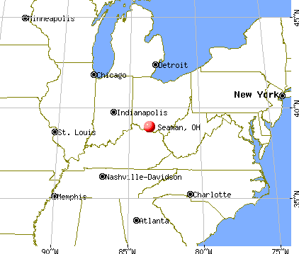 Seaman, Ohio map