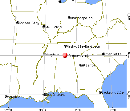 Ardmore, Alabama map