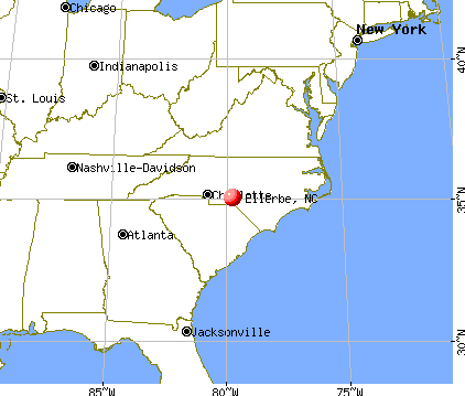 Ellerbe, North Carolina map