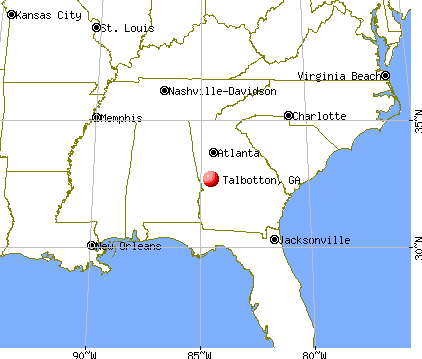 Talbotton, Georgia map