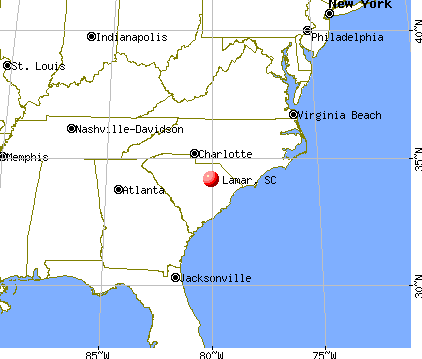 Lamar, South Carolina map
