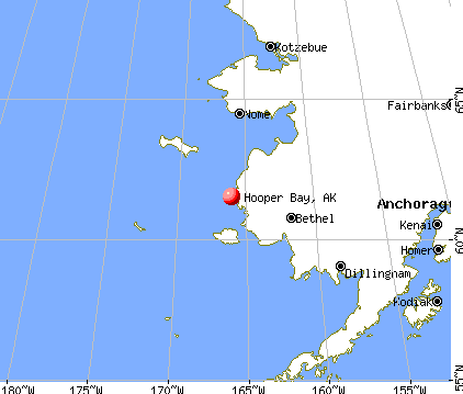 Hooper Bay, Alaska map