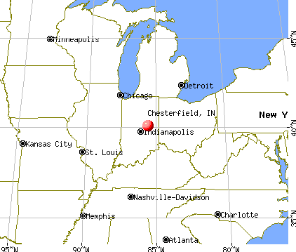 Chesterfield, Indiana map