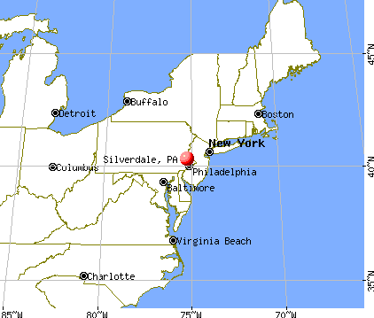 Silverdale, Pennsylvania map