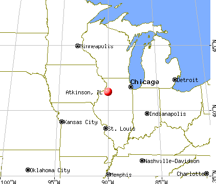 Atkinson, Illinois map