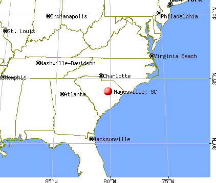 Mayesville, South Carolina map