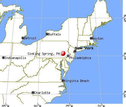 Sinking Spring, Pennsylvania map