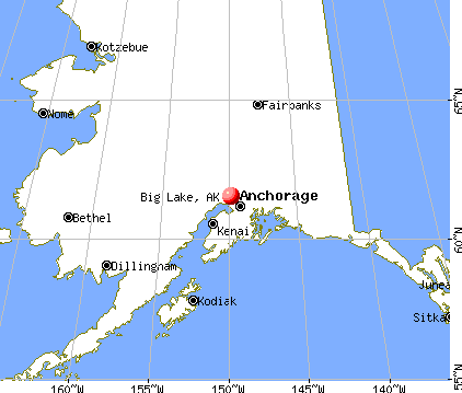 Big Lake, Alaska map