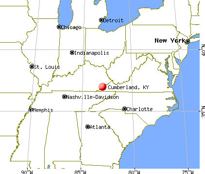 Cumberland City, Kentucky map