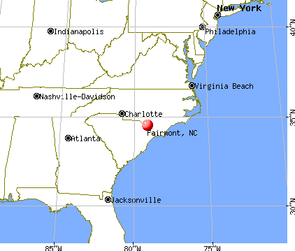 Fairmont, North Carolina map