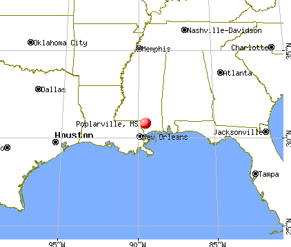 Poplarville, Mississippi map