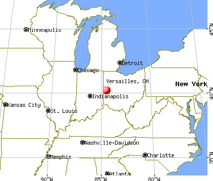 Versailles, Ohio map