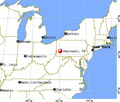 Aspinwall, Pennsylvania map