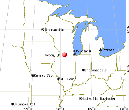 Amboy, Illinois map