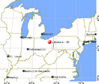 Lakemore, Ohio map