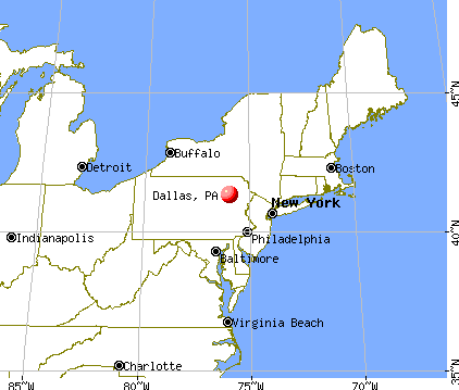 Dallas, Pennsylvania map