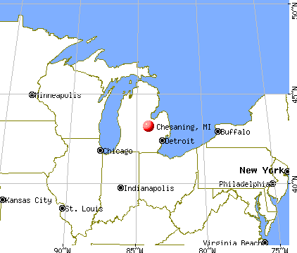 Chesaning, Michigan map