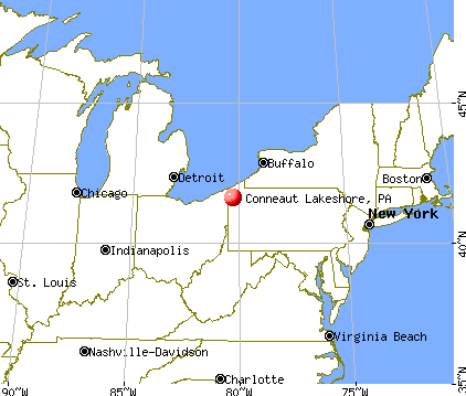 Conneaut Lakeshore, Pennsylvania map