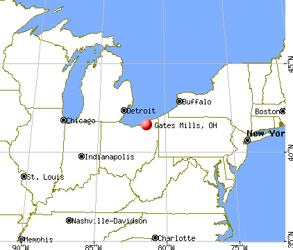 Gates Mills, Ohio map
