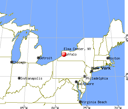 Elma Center, New York map