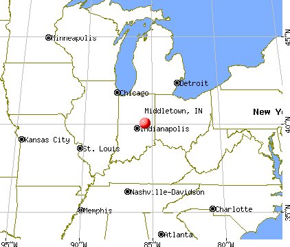 Middletown, Indiana map