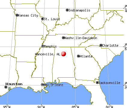 Hanceville, Alabama map