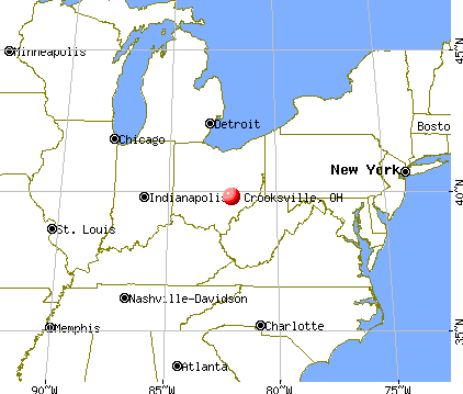 Crooksville, Ohio map
