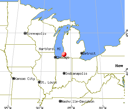 Hartford, Michigan map