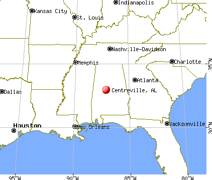Centreville, Alabama map