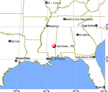 Quitman, Mississippi map