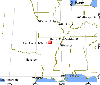 Fairfield Bay, Arkansas map