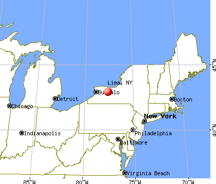 Lima, New York map