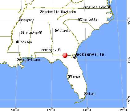 Jennings, Florida map