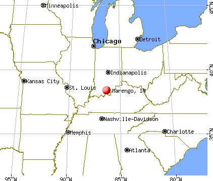 Marengo, Indiana map