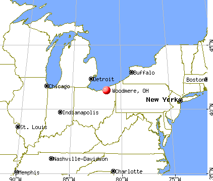 Woodmere, Ohio map