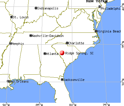 Ridge Spring, South Carolina map