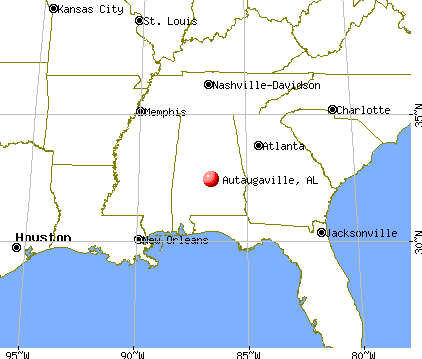 Autaugaville, Alabama map