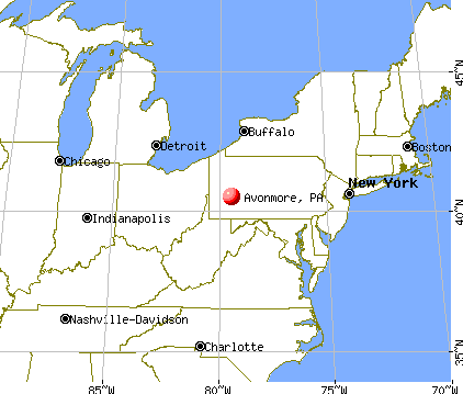 Avonmore, Pennsylvania map