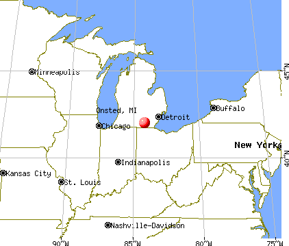 Onsted, Michigan map