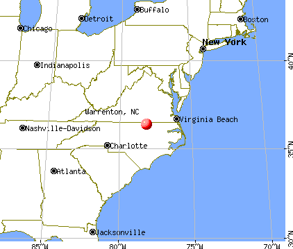 Warrenton, North Carolina map