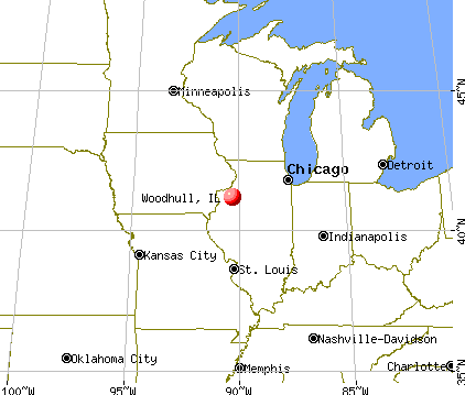 Woodhull, Illinois map