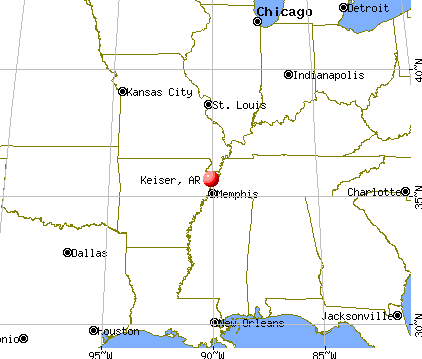Keiser, Arkansas map