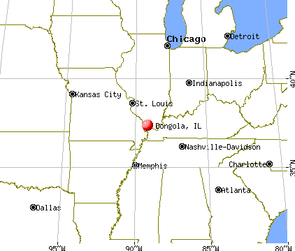 Dongola, Illinois map