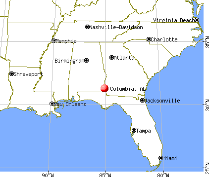 Columbia, Alabama map