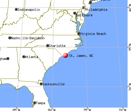 St. James, North Carolina map